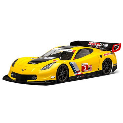 CORVETTE C7.R CLEARBODY FOR 1:8GT LWB