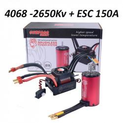 Moteur 4068 - 2650Kv et ESC 150A Waterproof