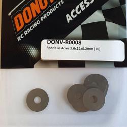 Rondelle Acier 3.6x12x0.2mm (10)