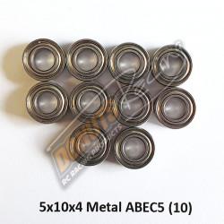 Roulement 5x14x4 INOX Flasque Métal ABEC5 (x10)