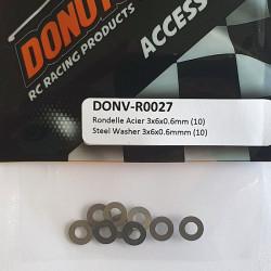 Rondelle Acier 3x6x0.6mm (10)