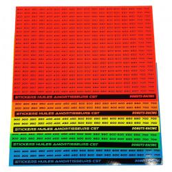 Planche de stickers grades d'huiles Wt
