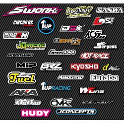 Stickers Sponsors personnalisés (A4)