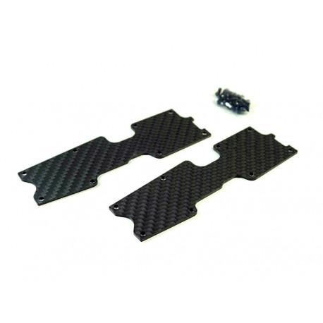 S35 T2/2E - Renfort de triangle Arr Carbone 1.5mm (2)