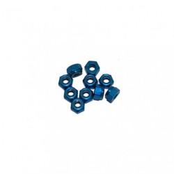 Ecrou 4mm Bleu (x10)