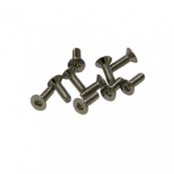 Screws - Flat Head - Hex (Allen) - M2 x 6mm (10 pcs)