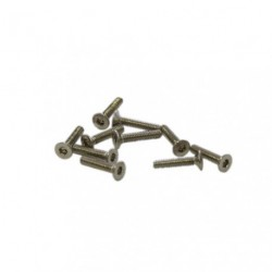 Screws - Flat Head - Hex (Allen) - M2 x 10mm (10 pcs)
