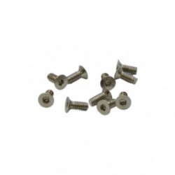Screws - Flat Head - Hex (Allen) - M2.5 x 6mm (10 pcs)