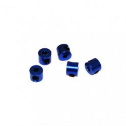 Bague d'arret 2mm Bleu (x5)