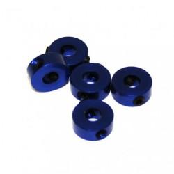 Stoppers - Aluminum - 4mm - Blue (5 pcs)