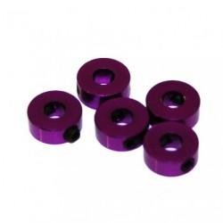 Stoppers - Aluminum - 4mm - Purple (5 pcs)
