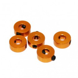 Stoppers - Aluminum - 4mm - Gold (5 pcs)