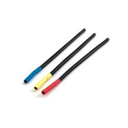 Set de câbles pour moteur brushless, connecteurs cylindriques Femelles 4mm, Bleu/Jaune/Orange