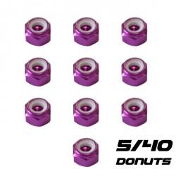 """Ecrou Nylstop 5-40"""" Violet (10)"""