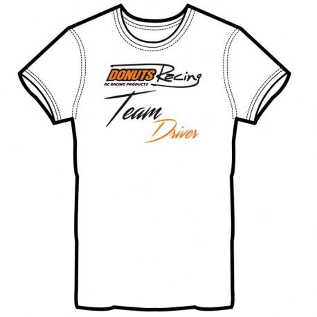 T-Shirt Blanc Team Driver S
