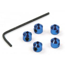 Bague d'arrêt 2mm Bleu (4)