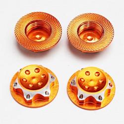Ecrous 17mm Alu Orange (4)