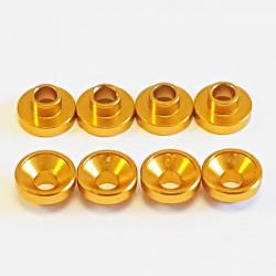Universal Aluminium servo washer Gold (8)