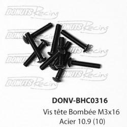 Vis tête Bombée M3x16 Acier 10.9 (10)