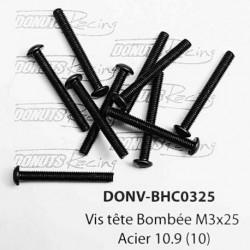 Vis tête Bombée M3x25 Acier 10.9 (10)