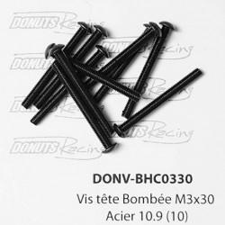 Vis tête Bombée M3x30 Acier 10.9 (10)