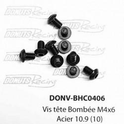 Vis tête Bombée M4x6 Acier 10.9 (10)