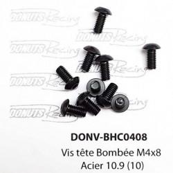 Vis tête Bombée M4x8 Acier 10.9 (10)