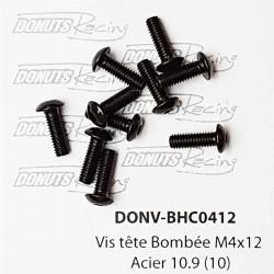 Vis tête Bombée M4x12 Acier 10.9 (10)