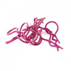 Body Clips 1/8 Metallic Purple (10pcs)