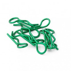 Body Clips 1/8 Metallic Green (10pcs)