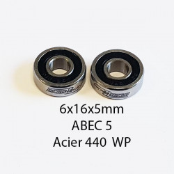 6x16x5mm ABEC 5 440 Steel WP (2)