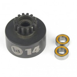 Unventilated Clutch Bell 14 T + Bearings HI-SPEED