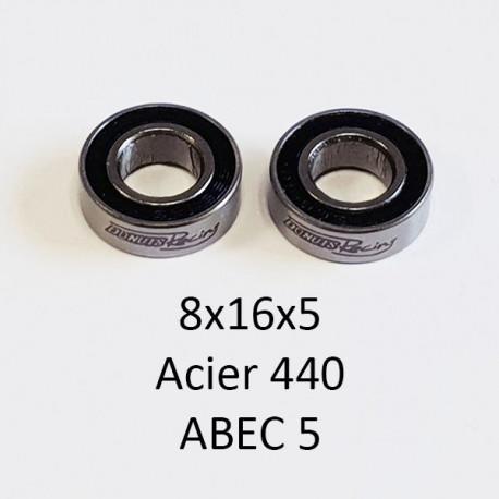 Rlt 8x16x5mm ABEC 5 Acier 440 étanche (2)