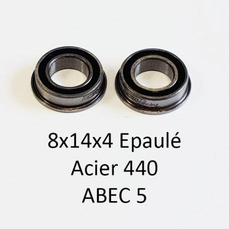 Rlt 8x14x4mm épaulé ABEC 5 Acier 440 étanche (2)