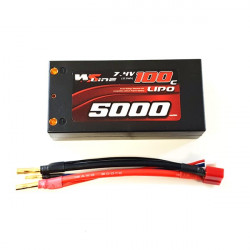 2S 5000mAh 100C Shorty Lipo