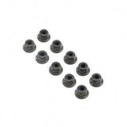 M4 Flanged Lock Nuts (10)