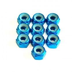 Ecrou Nylstop M3 Bleu foncé (10)