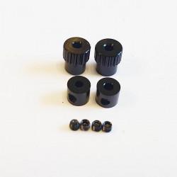 Stop rings Aluminium Black