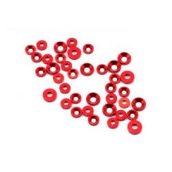 Rondelles M3 (26pcs) M4 (12pcs) Rouge