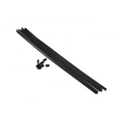 Tube d'Antenne Noir (10pcs)