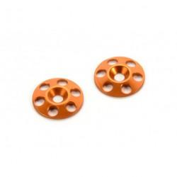 Rondelles Alu pour aileron Orange (2)